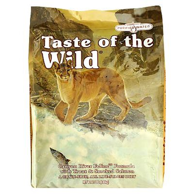 Taste Of The Wild Dry Cat Food Canyon River Feline Formula w/ Trout & Smoked Salmon 5 lb