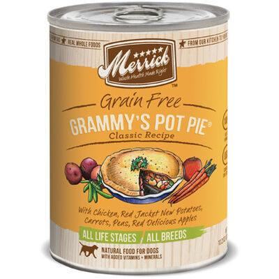 Merrick Canned Dog Food Grammys Pot Pie 12 x 13.2 oz