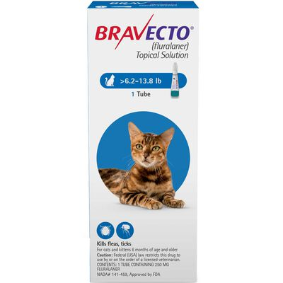 Bravecto for Cats 6.2-13.8 lbs 1 dose