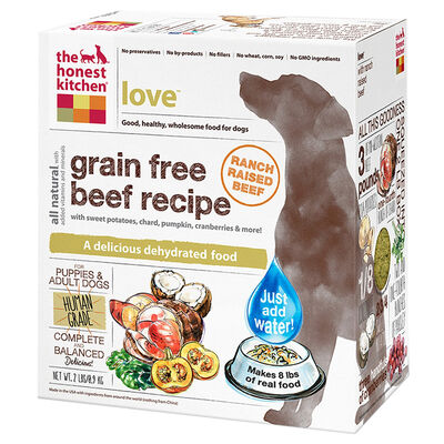 The Honest Kitchen Love Grain Free Beef Dehydrated Dog Food 2 lb
