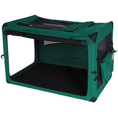 Deluxe Portable Soft Dog Crate Moss Green 42""