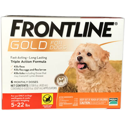 Frontline Gold 6 pk Dog Small 5-22 lbs