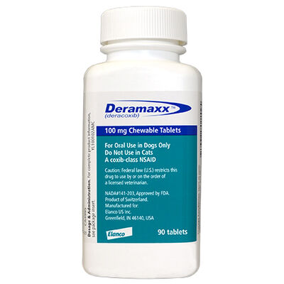 Deramaxx 100 mg Chewable Tablets 90 ct
