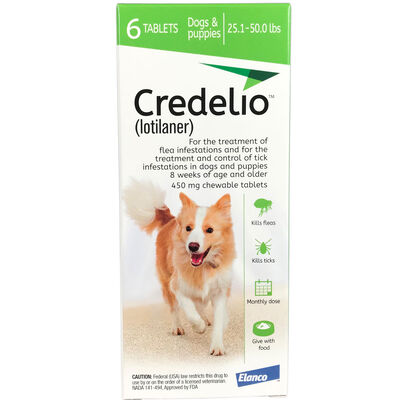 Credelio Chewable Tablet 25.1-50 lbs 6 pk