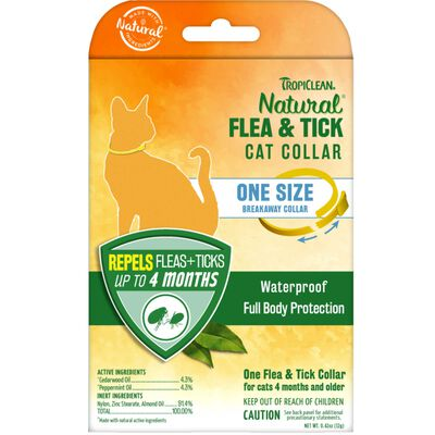 TropiClean Natural Flea & Tick Collar Cats (all sizes)