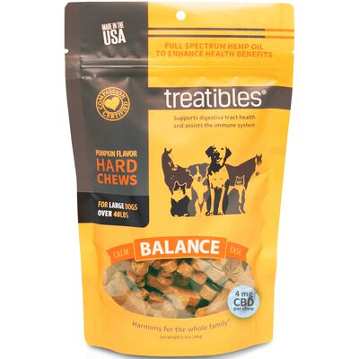 Treatibles Balance Hard Chews Large Dogs (Over 40 lbs) Approx. 45 ct