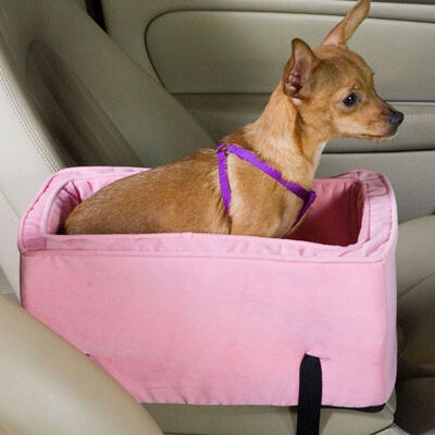 Luxury Console Pet Car Seat - Large Pink/pink