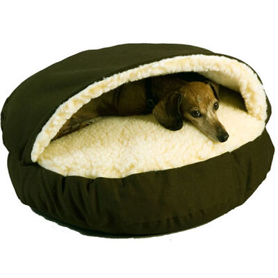 Snoozer Orthopedic Cozy Cave Pet Bed - Small Olive