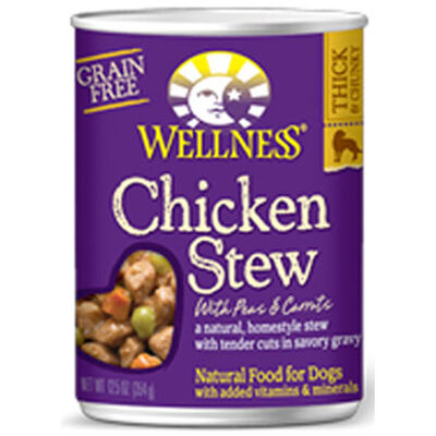 Wellness Stew Canned Dog Food Chicken 12 x 12.5 oz