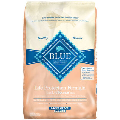Blue Buffalo Chicken & Brown Rice Large Breed Puppy Food 30 lb bag
