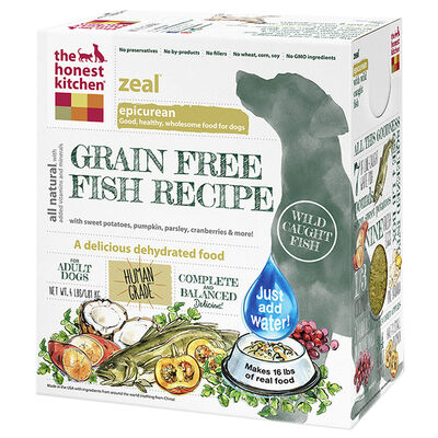 The Honest Kitchen Zeal Grain Free Fish Dehydrated Dog Food 4 lb
