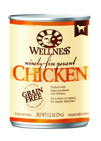 Wellness Ninety-Five Percent Canned Dog Food Chicken 12/13.2 oz