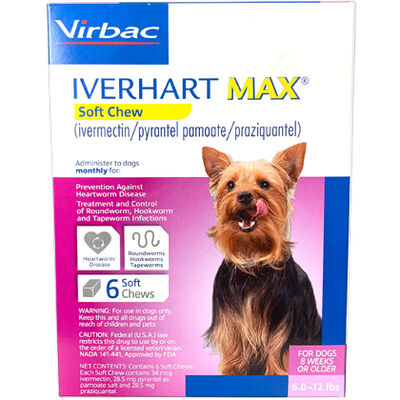 Iverhart Max Chewable Tablets For Dogs 6-12lbs 12pk