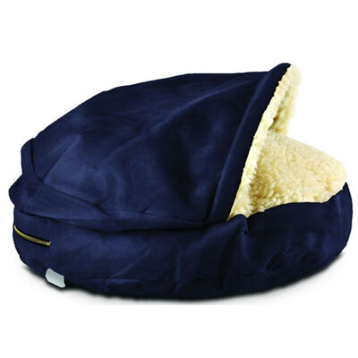 Snoozer Cozy Cave Pet Bed - Small Navy