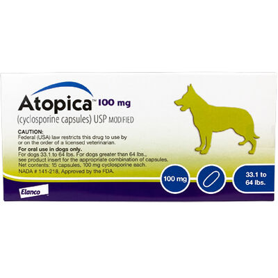 Atopica For Dogs 100 mg 15 Capsule Pk