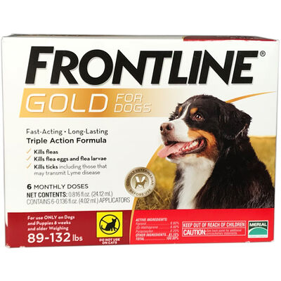 Frontline Gold 12 pk Dog X-large 89-132 lbs