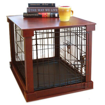 Dog Crate with Wooden Cover Small