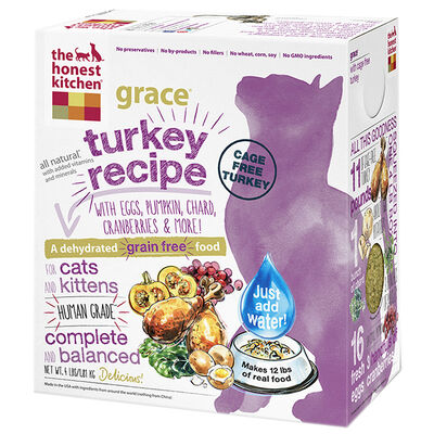 The Honest Kitchen Grace Grain Free Turkey Dehydrated Cat Food 4 lb