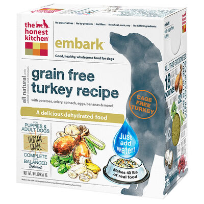 The Honest Kitchen Embark Grain Free Turkey Dehydrated Dog Food 10 lb