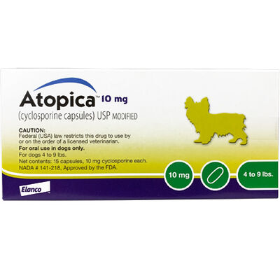 Atopica For Dogs 10 mg 30 Capsule Pk