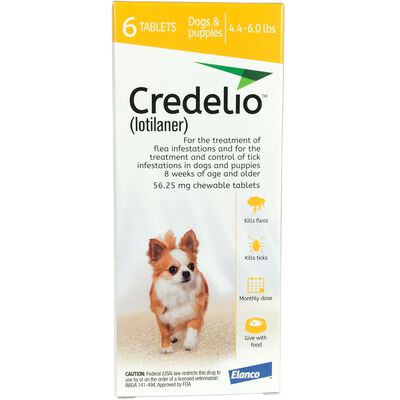 Credelio Chewable Tablet 4.4-6 lbs 12 pk