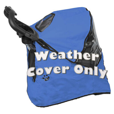 Happy Trails Pet Stroller Weather Cover Blue