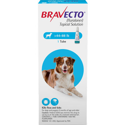 Bravecto Topical for Dogs Large Dog 44-88 lbs 2 dose