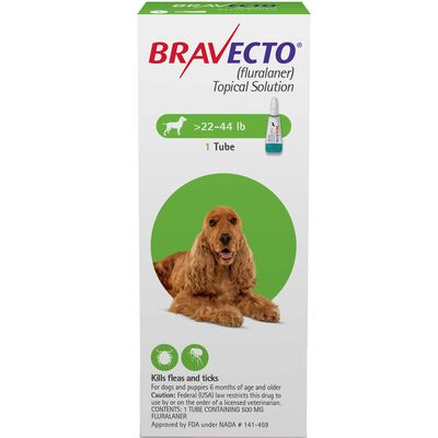 Bravecto Topical for Dogs Medium Dog 22-44 lbs 2 dose