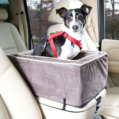 Luxury Console Pet Car Seat -largel Dark Chocolate/buckskin