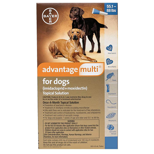Advantage Multi Advocate Extra Large Dogs 55.1-88 Lbs Blue 12 Doses