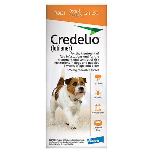 Credelio For Dogs 12 To 25 Lbs 225mg Orange 6 Doses