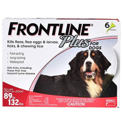 Frontline Plus For Extra Large Dogs Over 89 Lbs Red 6 Doses