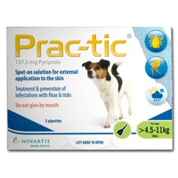 Prac-Tic Spot On For Dogs 10-25 Lbs Green 12 Pack