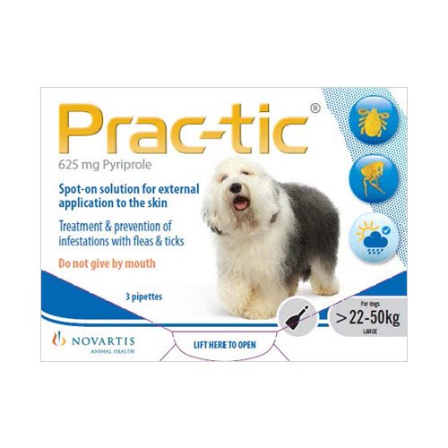 Prac-Tic Spot On For Large Dog: 50-110 Lbs White 12 Pack
