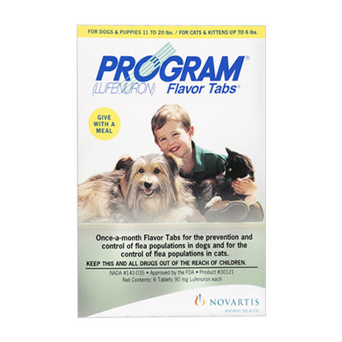 Program Flavour Tabs For Dogs 14.8 - 44lbs Brown 6 Tablet