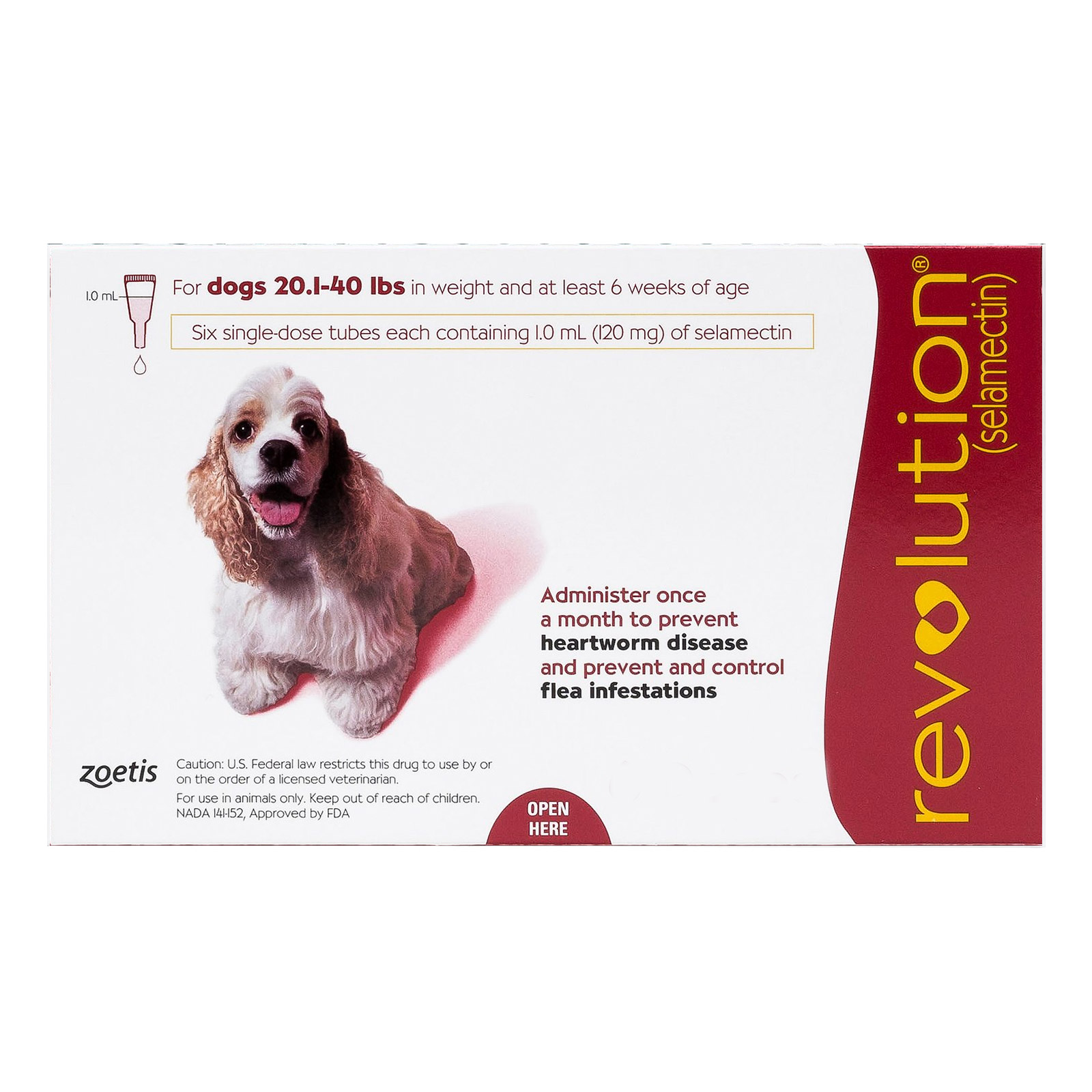 Revolution For Medium Dogs 20.1-40lbs Red 12 Doses