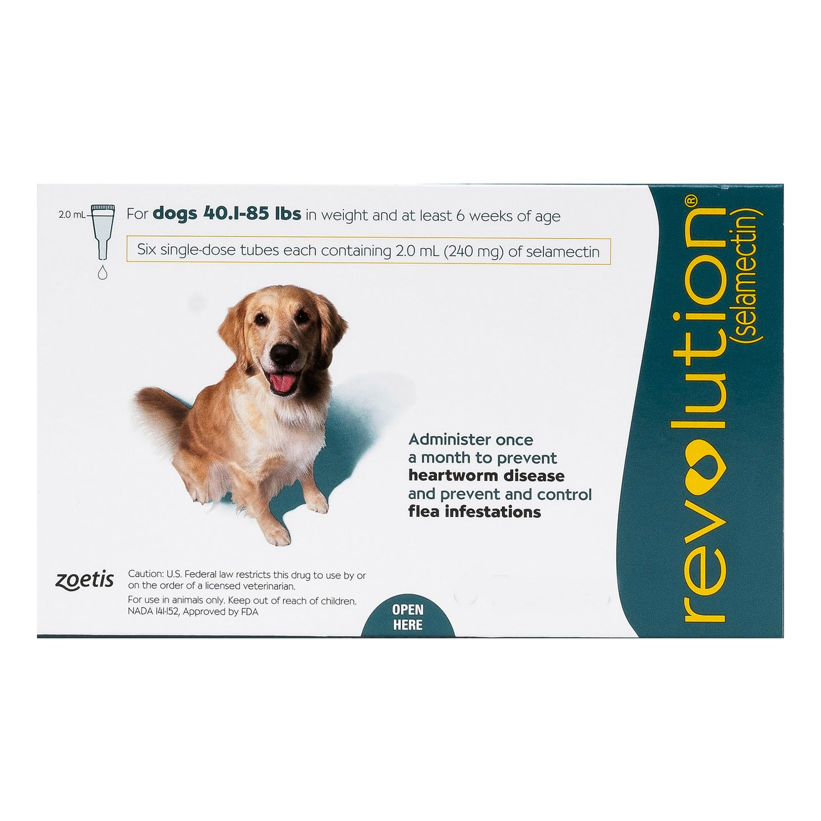 Revolution For Large Dogs 40.1-85lbs Green 12 Doses