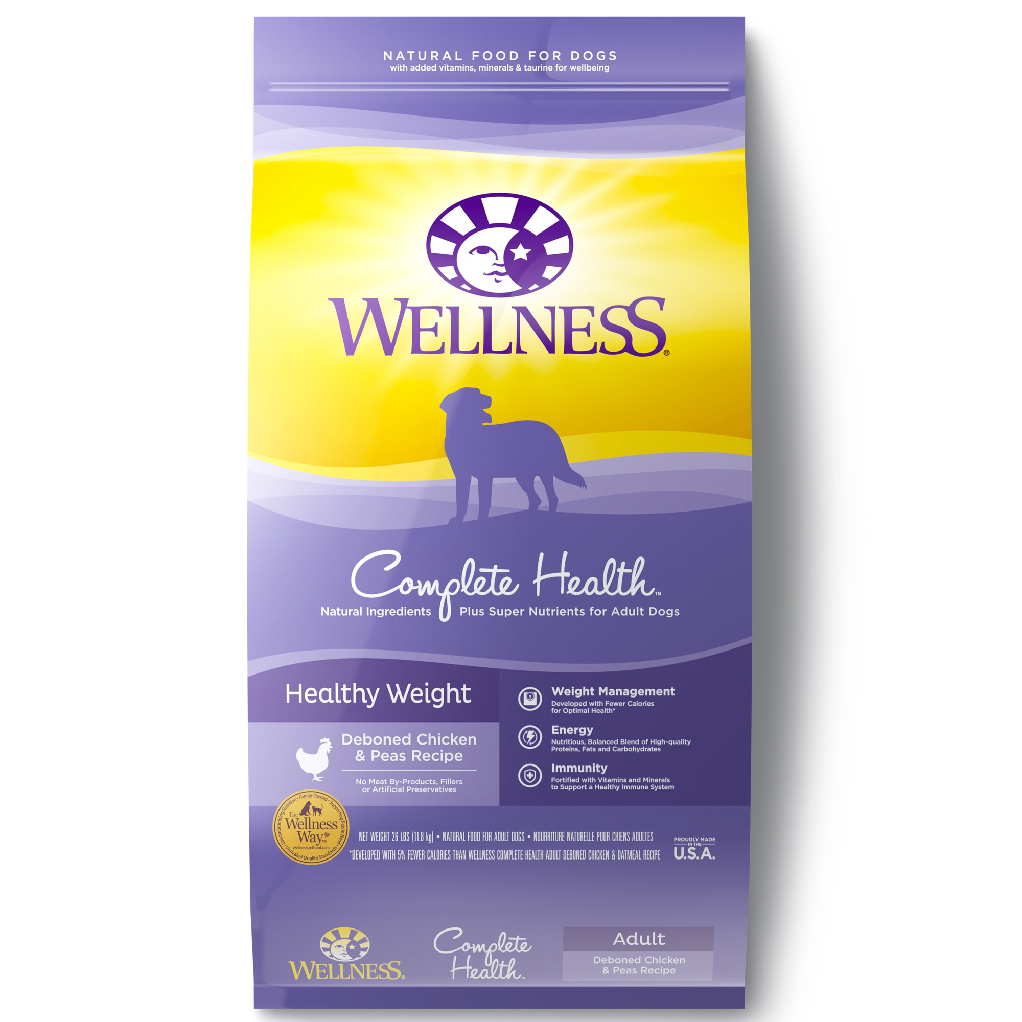 Wellness Complete Health Natural Healthy Weight Recipe Dry Dog Food
