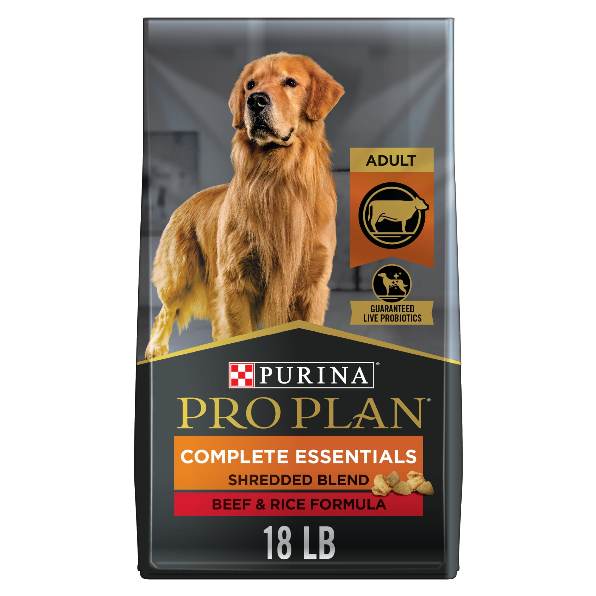Purina Pro Plan Savor Shredded Blend Beef & Rice Adult Dog Food, 18 lbs.