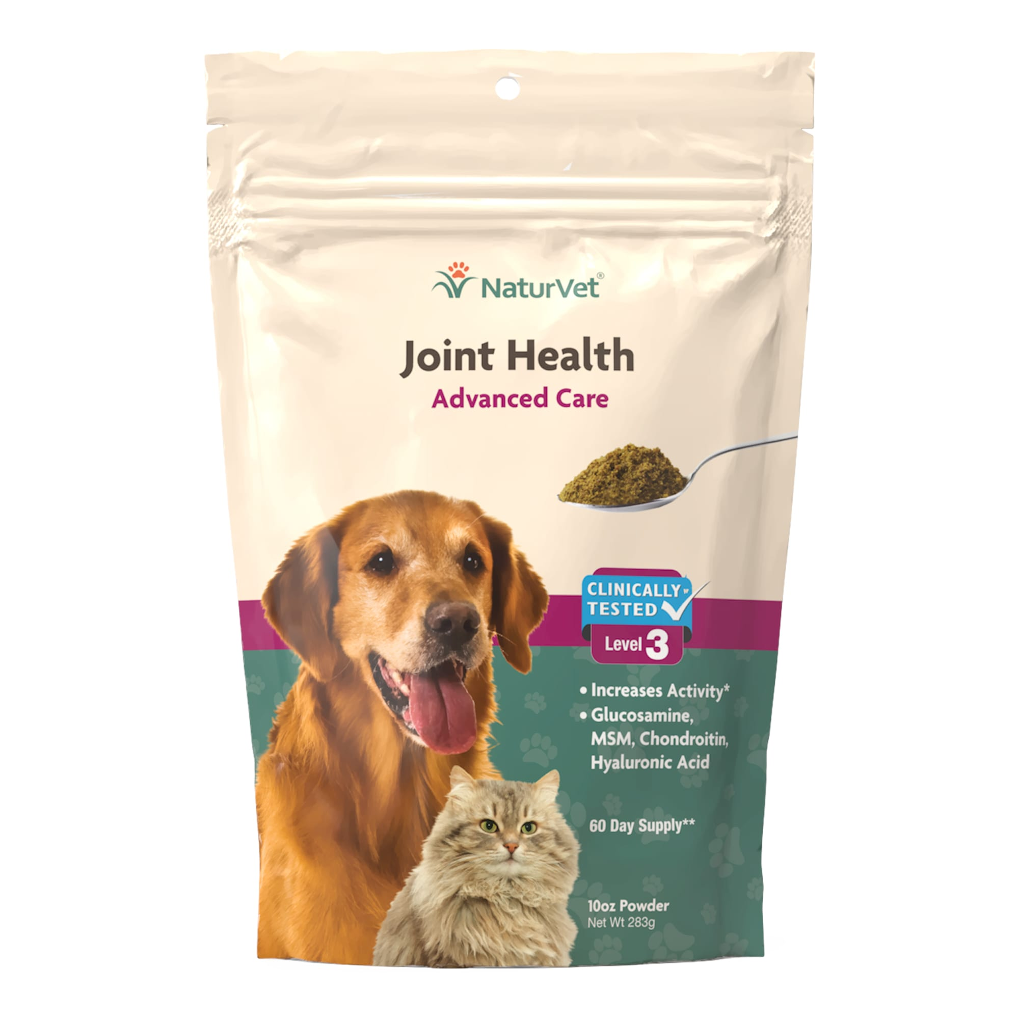 NaturVet Naturals Joint Health Level 3 Dog & Cat Advanced Joint Support Supplement, 10 OZ