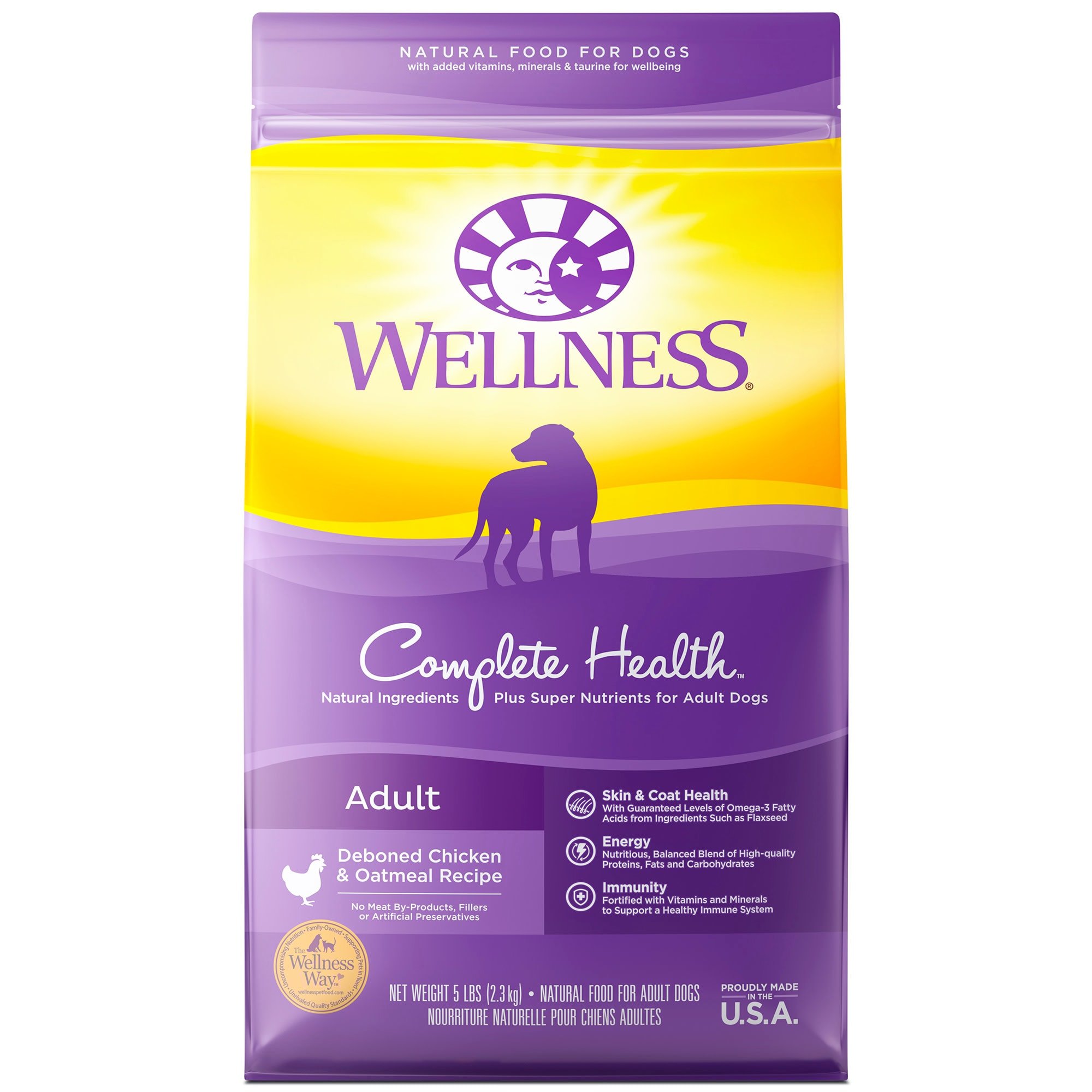 Wellness Complete Health Natural Chicken Recipe Dry Dog Food, 5 lbs.