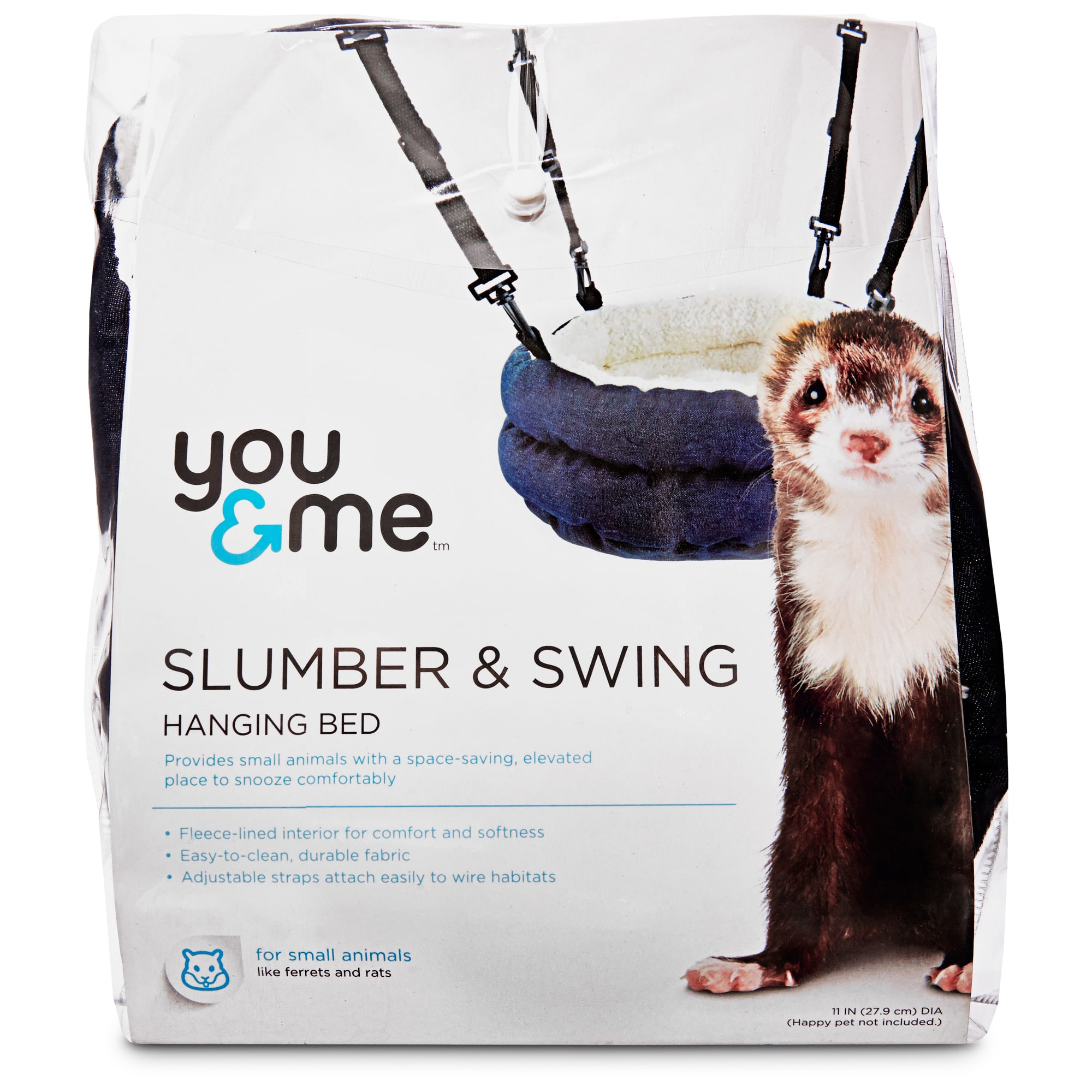 You & Me Slumber and Swing Plush Bed For Ferrets, Assorted