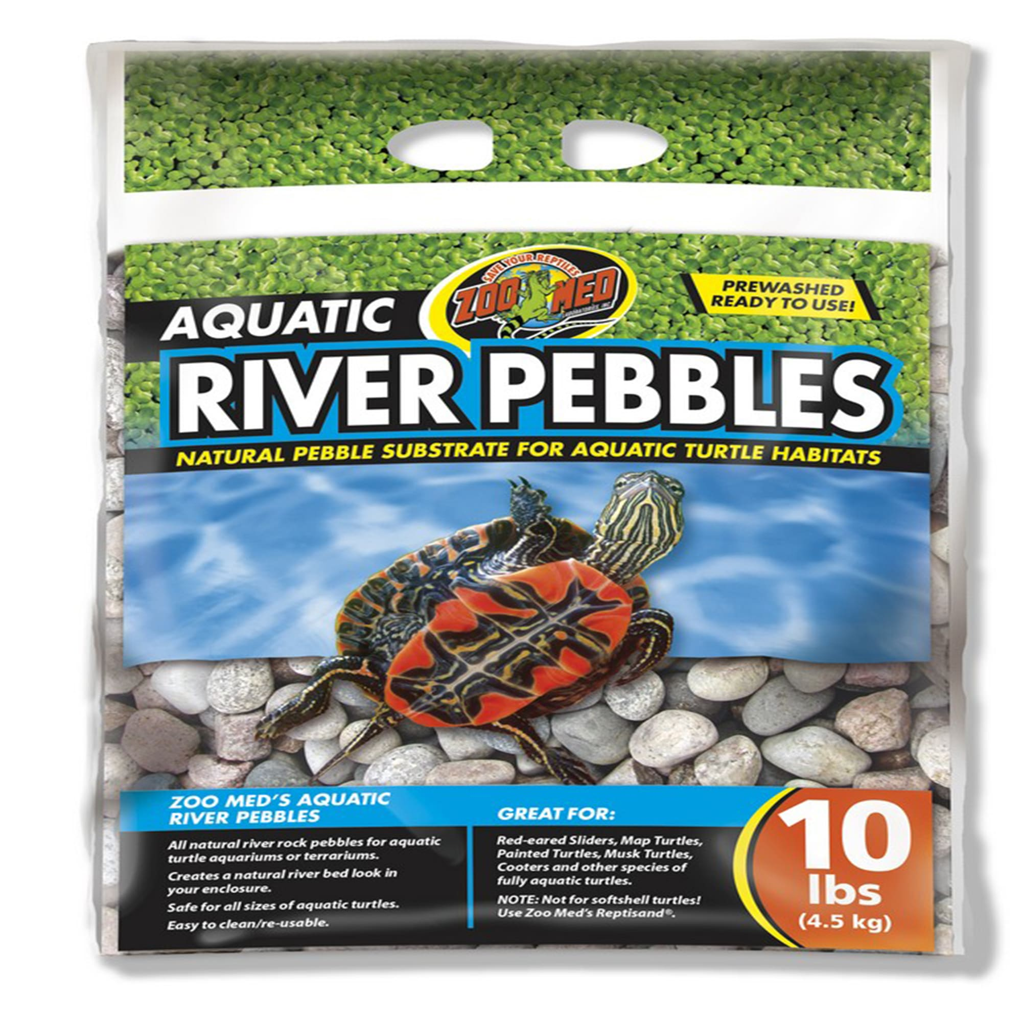 Zoo Med Aquatic River Pebbles for Turtle, 10 lbs.