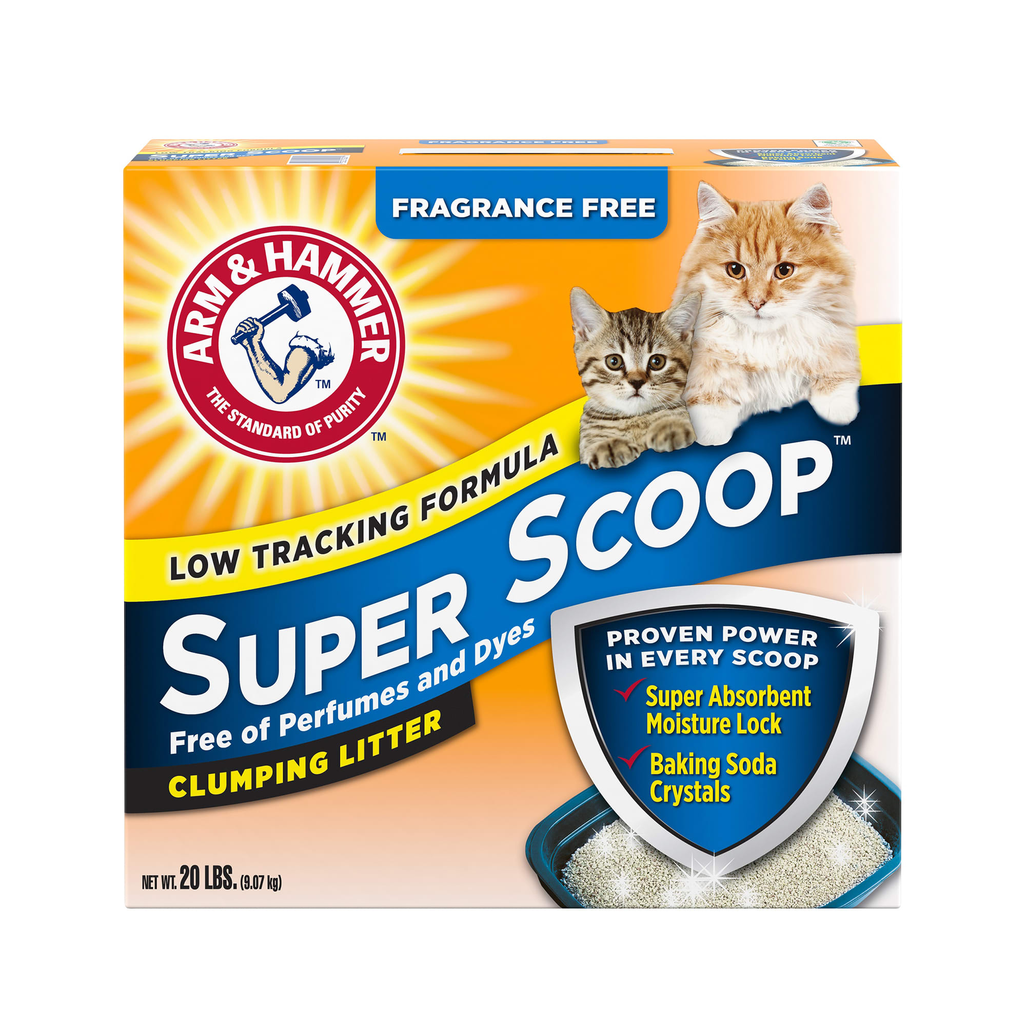 Arm & Hammer Fragrance Free Super Scoop Clumping Litter for Cats, 20 lbs.