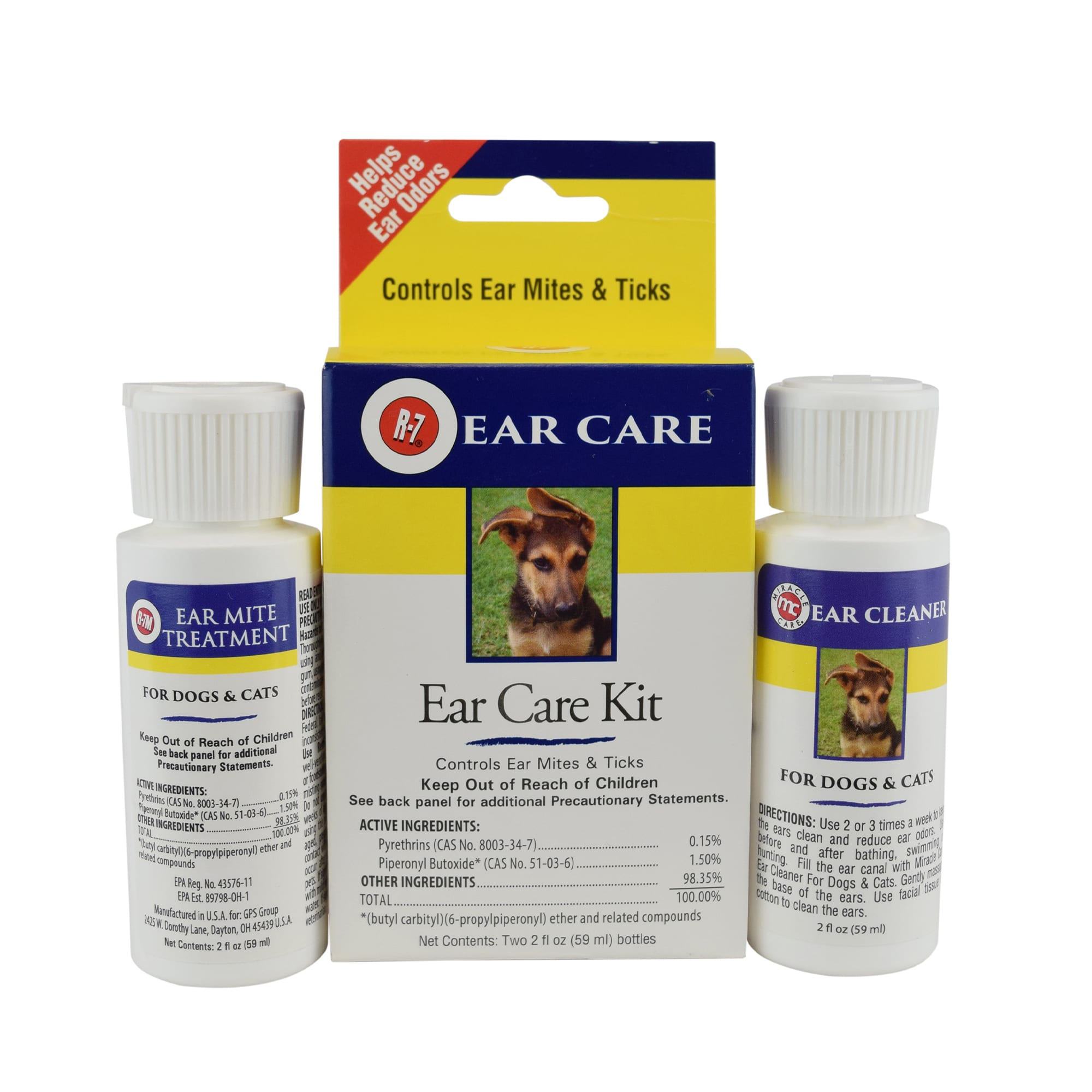 R-7 Ear Care Kit for Dogs & Cats, 2 FZ