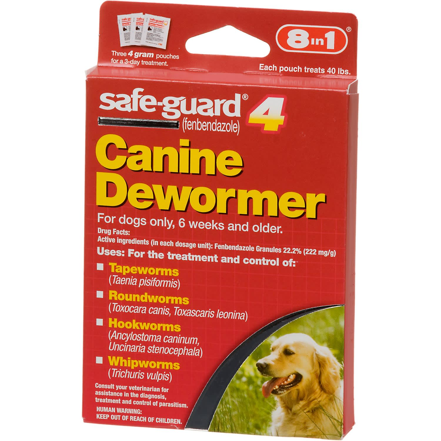 8 in 1 safe-guard 4 Canine Dewormer for Large Dogs, 4 G