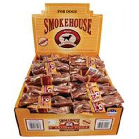 SmokeHouse Braided Pizzle Beef Dog Treats 5 Inch
