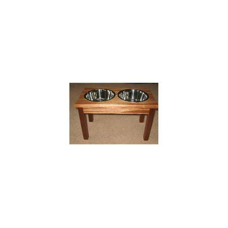 Traditional Style Solid Mahogany Wood Pet Diner Large