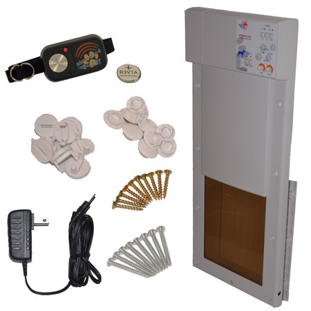 Model PX1 Power Pet Fully Automatic Pet Door Size Medium for Dogs and Cats up to 30 lbs.