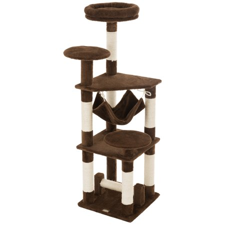 Ollieroo 52 Cat Tree Tower Condo Furniture Scratching Post House Three Layers Kitten Condo Pet House